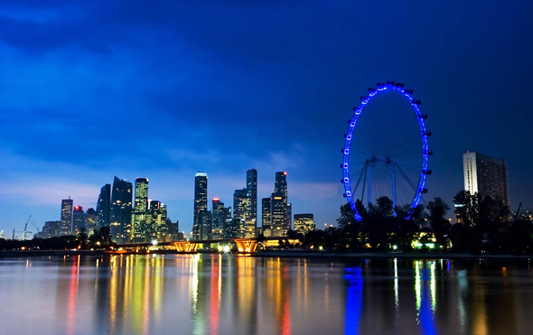 Singapore Flyer night